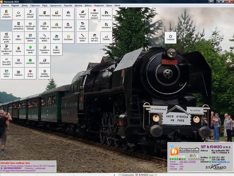 Úvodní obrazovka programu