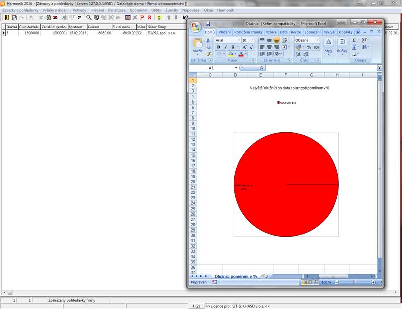 Sestava největších dlužníků v Excelu